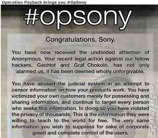 Sony-Hacked-by-Anonymous-with-Wrath-OpSony-SonyRecon-operation-payback