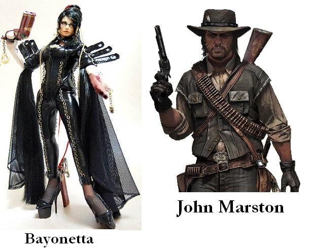 John Marston and Bayonetta